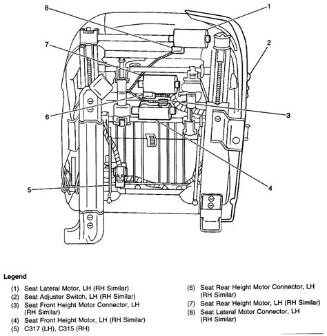 electric seat wiring diagram 98 gmc jimmy seat auto parts catalog and diagram 98 power seat problem blazer forum chevy blazer forums