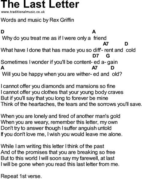 Letter Using Song Lyrics The Letter Chords Levelings