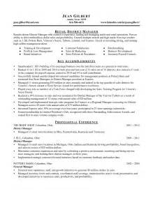 Restaurant Manager Resume Exles Sles District Manager Restaurant Resume