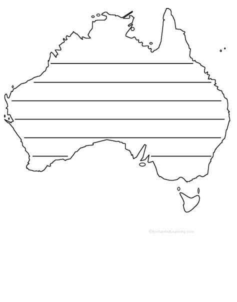 template of australia australia shape poem printable worksheet