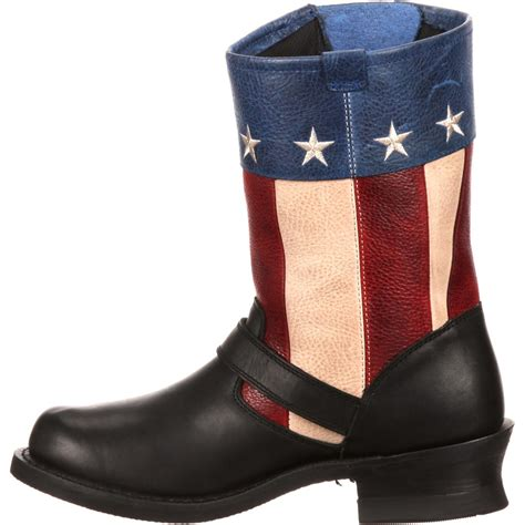 flag boots womens durango city s soho patriotic engineer flag boot