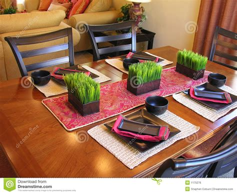 Free Dining Room Table Plans asian themed table setting stock photo image of decorate