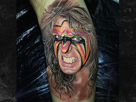 ultimate warrior tattoo fan gets incredibly realistic ultimate warrior