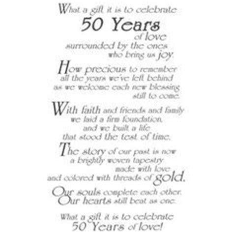 50th wedding anniversary poems 50th wedding anniversary quotes and poems quotesgram