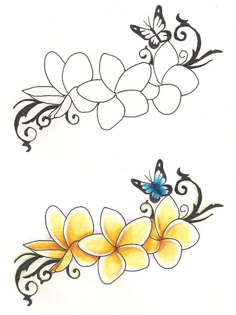 frangipani tattoo designs plumeria flower drawing designs www imgkid the