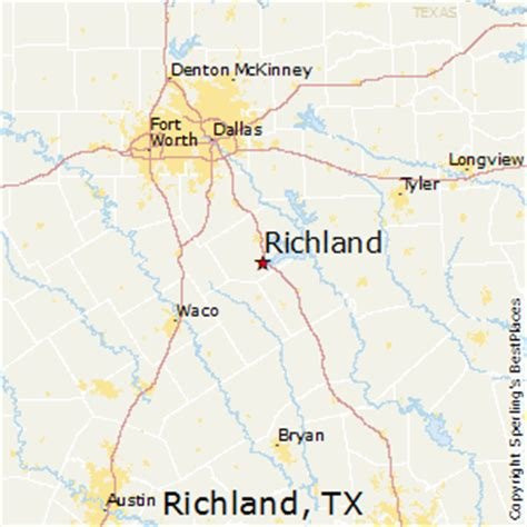richland texas map best places to live in richland texas