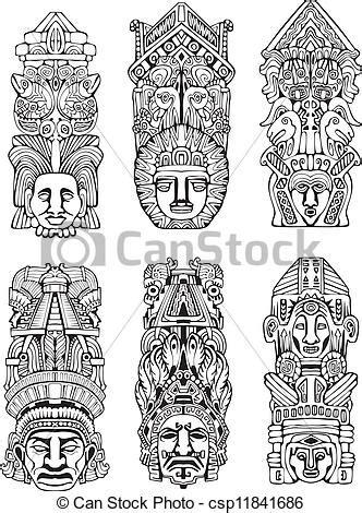 imagenes de totems aztecas vecteur de azt 232 que totem polonais r 233 sum 233 mesoamerican