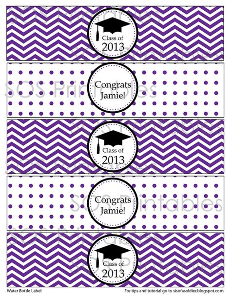 graduation labels template free graduation water bottle labels printable pdf by sosprintables