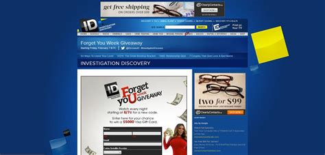 Id Investigation Discovery Giveaway - investigationdiscovery com forget your week giveaway