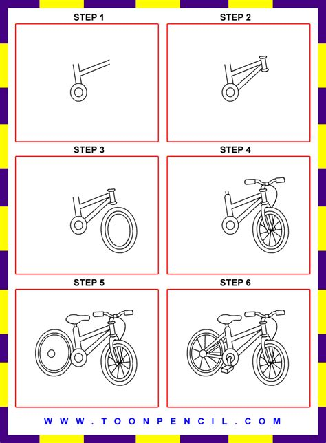 How To Make A Paper Bike Step By Step - how to draw bicycle