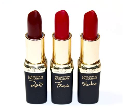L Oreal Collection Reds the l oreal colour riche collection exclusive reds are for the season