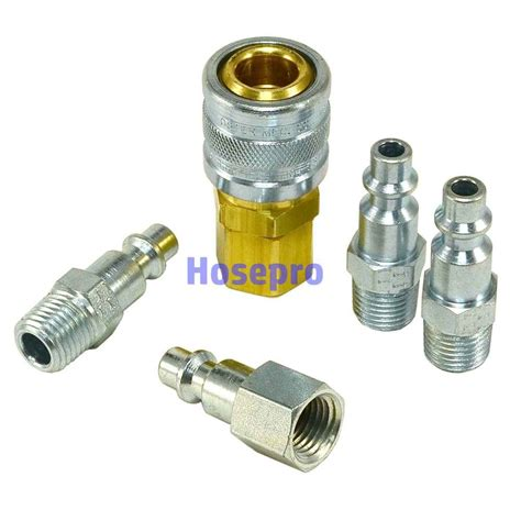 1 4 npt air hose fittings m style tool line compressor construction coupler ebay