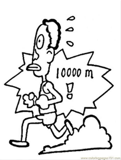 coloring pages run 1000 meters education gt numbers