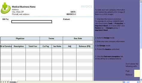 patient invoice template 28 images bill format in word