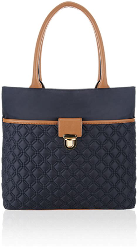 Marks Spencers Padstow Princess Collection Has Us Sold by Marks And Spencer M S Collection Quilted Push Lock Shopper