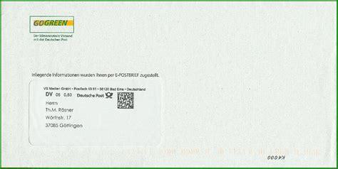 Adrebe Mit Postfach Im Anschreiben Philaseiten De Deutsche Post E Postbrief