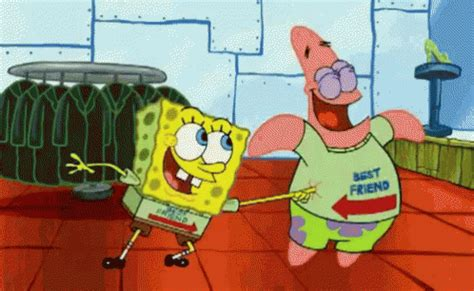 best tickling best friends gif spongebob tickle discover