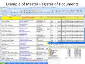 controlled register template version and storage