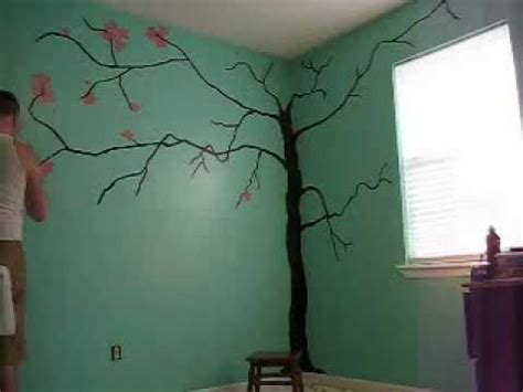 Minecraft Wall Murals time lapse baby s room mural tree painting youtube