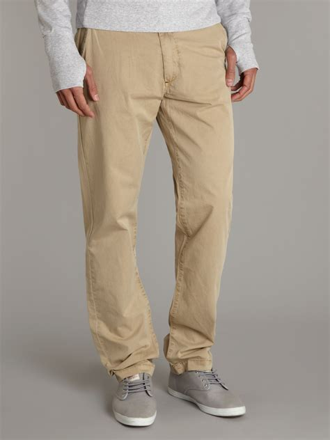 bench chinos bench regular fit chino trousers in natural for men lyst