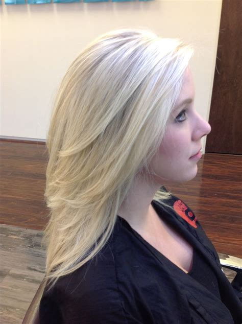 Best Stylist For Long Layers In Dc | bright blonde pattern matching highlights on a blonde base