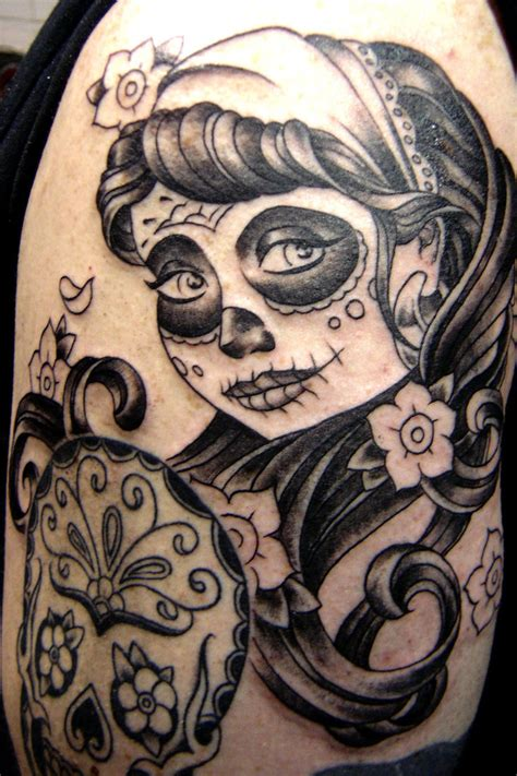 dead girl tattoo designs traditional day of the dead www pixshark