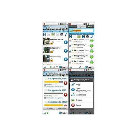 limewire for android review of frostwire p2p app for android
