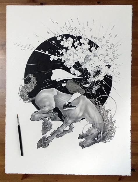 Ink Hollow the legend of sleepy hollow ink drawing black press