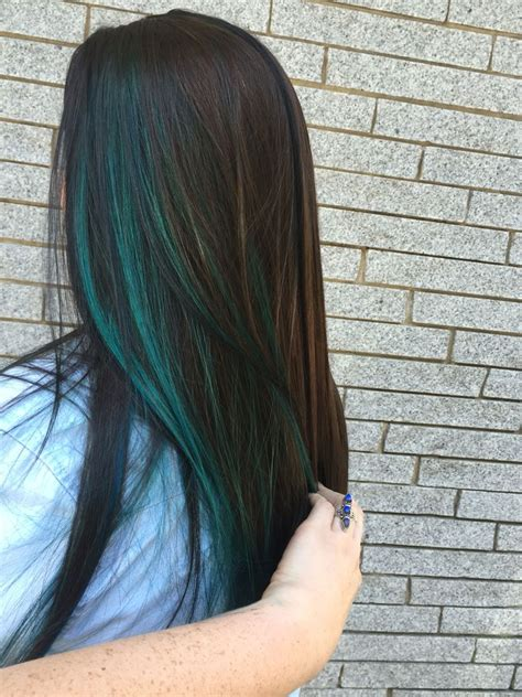 hair with colored highlights 25 best ideas about blue hair highlights on