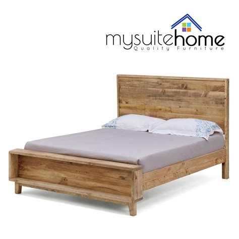 rustic king bed frame portland recycled solid pine rustic timber king