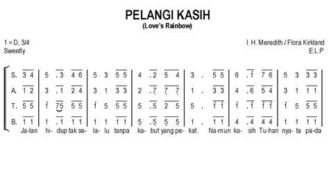 not angka lagu rohani mengejar hadirmu pelangi kasih s rainbow satb teks kor rohani not angka