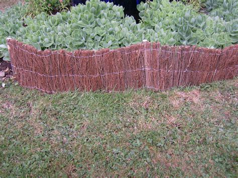 bed edging brushwood garden feature edging flower bed fencing 2 4m
