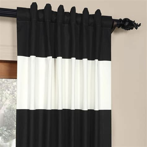 black and off white curtains black and off white 50 x 84 inch horizontal stripe curtain
