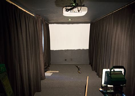 projector screen curtain home theater room phase ii wall curtains projector