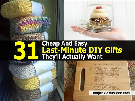 Cheap Diy Gifts - 31 cheap and easy last minute diy gifts they ll actually want