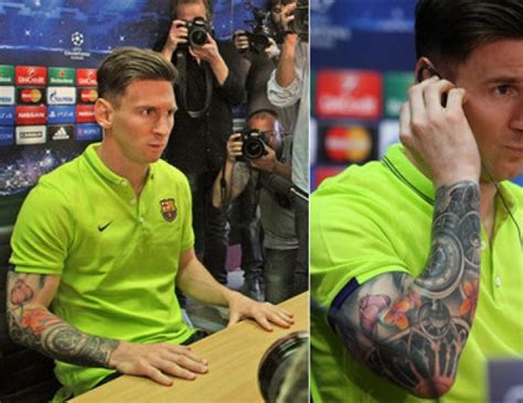 lionel messi now has a full sleeve tattoo is nothing messi s bad taste in tattoos www soccerladuma co za