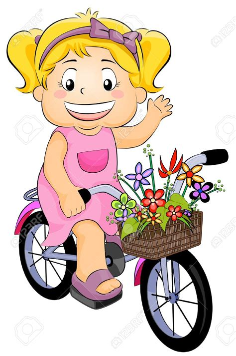 tricycle cartoon pushbike clipart kid bike pencil and in color pushbike