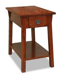 leick bin pull narrow chairside end table candleglow
