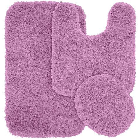 Purple Bath Rugs Garland Rug Jazz Purple 21 In X 34 In Washable Bathroom 3 Rug Set Ben 3pc 09 The Home