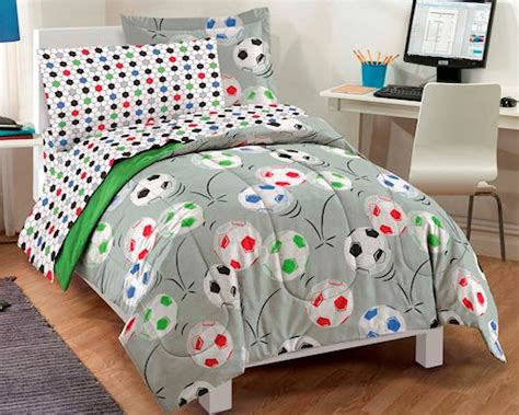 bed in a bag twin girl soccer ball bedding twin full comforter set bed in a bag