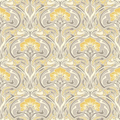 black and white wallpaper uk only crown flora nouveau yellow wallpaper inspired wallpaper