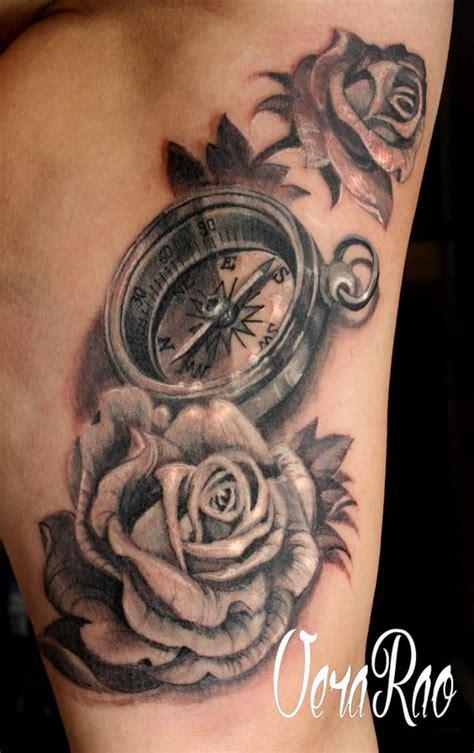 Bussola E Rose Tattoo By Sabina Tattoo Tatto Bussola