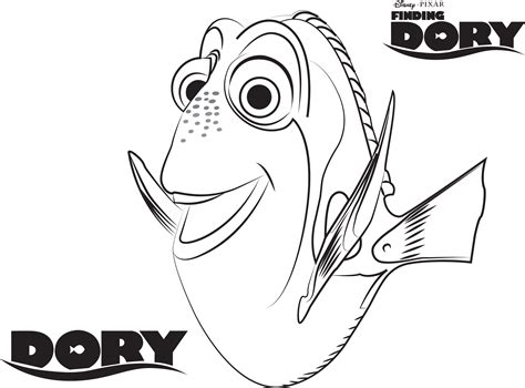 Dory Coloring Pages Best Coloring Pages For Kids Coloring Page For