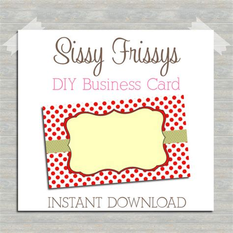 Diy Business Card Template by Items Similar To Instant Diy Business Card