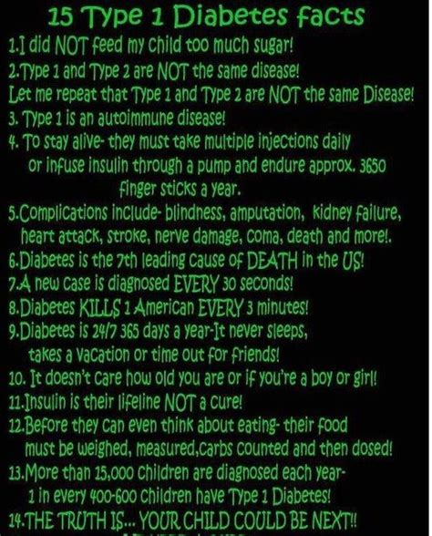 type  diabetes facts