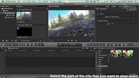 tutorial instagram slow motion fcpx tutorial 1 slow motion with twixtor youtube