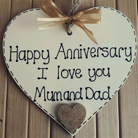 personalised wedding anniversary gift for parents wooden ebay