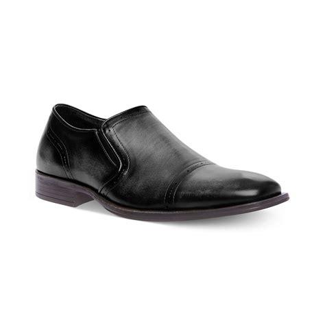 Steve Madden Mens Shoes by Steve Madden Madden Mens Shoes Evoke Slipon Dress Shoes In Black For Lyst