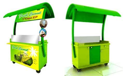 desain gerobak es gerobak es kelapa rp 4 300 000 jasa pembuatan gerobak