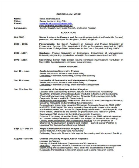 resume format for mba finance experienced pdf 25 finance resumes in pdf free premium templates